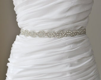 Ready To Ship Bridal crystal belt , rhinestone sash, bridal sash, bridal belt