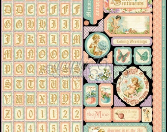 """Graphic 45  """"Sweet Sentiments Stickers"""