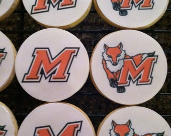 College logo cookies, Personalized Cookies,