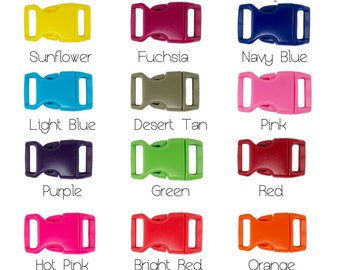"""25 Pack 5/8"""" Quick Release Plastic Slide Buckles Para Cord - You Choose Color # 344-"""