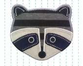 Raccoon Iron on Patch Applique