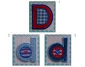 Iron On Letters Fabric Applique Patch - Letters D,d 5.50 cm 2.16 inches