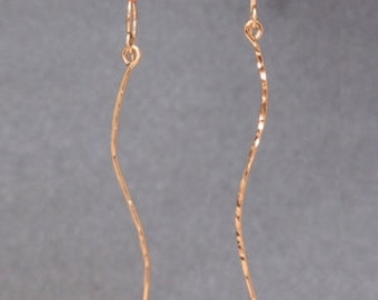 Hammered stick earrings Nouveau 205