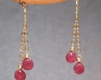 Chain earrings choice of gemstone Venus 11