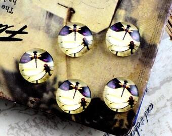 10pcs 12mm Handmade Glass Cabochon
