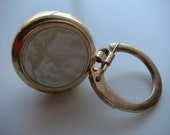 Vintage Gold Tone Retractable ID Hold