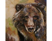 Bear a print of an original acrylic