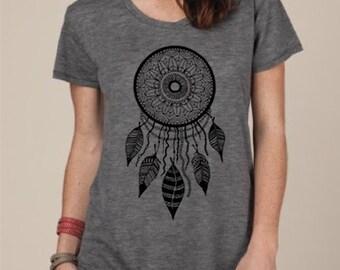 Womens DREAMCATCHER BOHO Bohemian Slouchy T shirt screen print Top Alternative Apparel S M L XL More colors