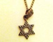 Vintage sterling silver Star of David necklace