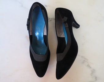 SALE was 32.00 / 50s shoes size 7.5 / 50s black Selby heels
