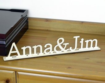 Custom Wood Word Sign / Freestanding Home Decor / Housewarewes / Wedding / Wooden Letters