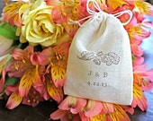 Personalized wedding ring bag. Ring warming, ring bearer accessory.  Woodland acorn design with custom initials and wedding date.