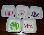Monogrammed Ring/Jewelry Dish