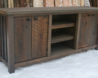 Reclaimed Rustic Entertainment Stand