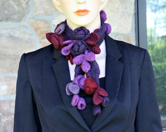Flowers and Leaves Crochet Scarf  SALE !!!!!!