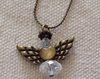 Angel with a Heart Necklace