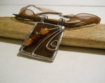 Pendant Stained Glass Amber
