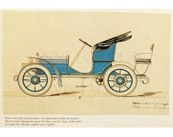 Antique car print 1968 Vintage car illustration Vintage automobile decor Vintage car decor Old car photo Antique car decor Vintage Car gift