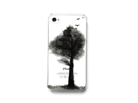 Hand painted iphone/galaxy case : Dark Tree