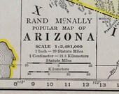 Arizona Vtg Map, 1928