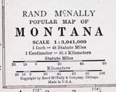 Montana State Vtg Map, 1928