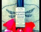 Abundance & Earth Anointing Oil/Precious Perfume in 1/4 ounce roll-on glass bottle