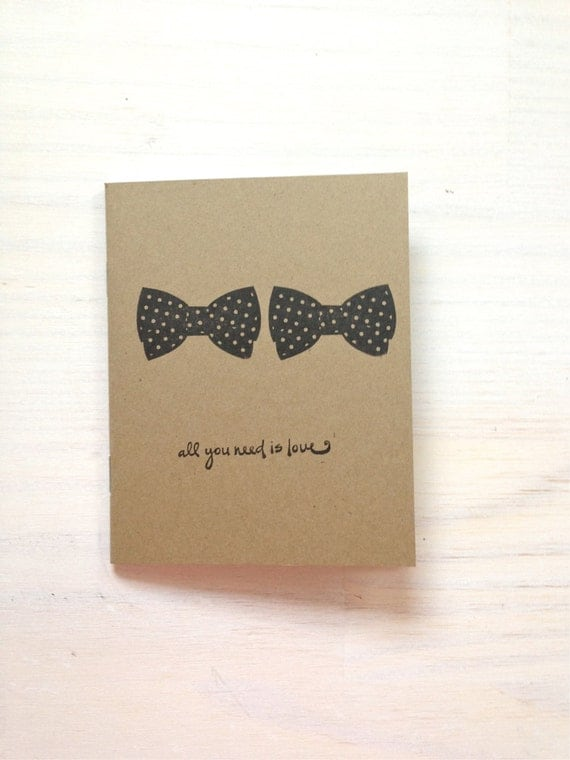 Auguri Matrimonio Gay : Notebook bow tie gay wedding gift medium love