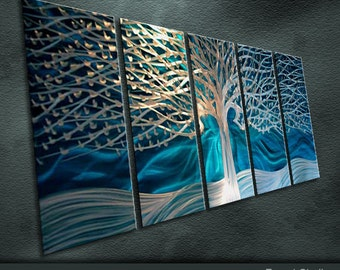 "Original Metal Wall Art Modern Painting Scupture Indoor Outdoor Decor ""A Fairy Tale"" by Nick"