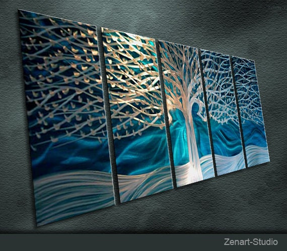"""Original Metal Wall Art Modern Painting Scupture Indoor Outdoor Decor """"A Fairy Tale"""" by Ning"""