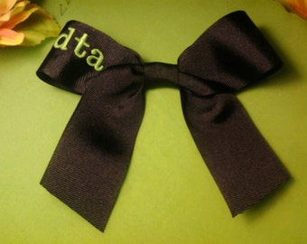 3 letter Monogram 5 inch Hair Bow