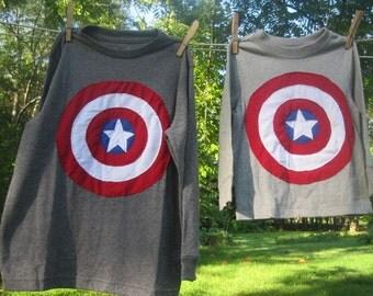 Captain America and Bros Kids T shirt Birthday set