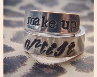 Make up artist/ beauty guru spiral aluminum ring
