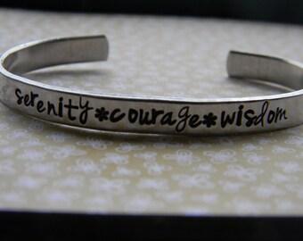 Serenity, Courage and Wisdom serenity  prayer/sobriety/recovery/ bracelet
