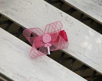 Pink Lollipop Bow
