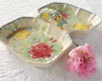 Vintage Shabby Chic/Cottage Style Divided Dish