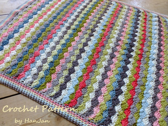 Crochet Patterns Pdf Free Download : Instant Download PDF Crochet Pattern: Multi Colour Weave Baby Blanket ...