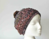Thick & Chunky Slouchy Wool Blend Multi Color Hat Beanie Toque