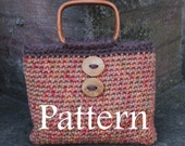 Ladies Autumn Purse Retro style with buttons - PDF crochet pattern - Listing66