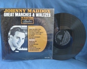"Vintage, Johnny Maddox - ""Great Marches And Waltzes In Ragtime"", Vinyl LP, Record Album, Original In Shrink, The Stars And Stripes Forever"