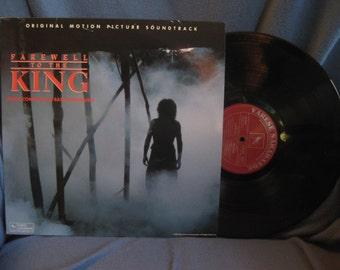 "RARE Vintage, ""Farewell To The King"" Original Soundtrack, Vinyl LP, Record, Basil Poledouris, Og First Press, Nick Nolte, Varese Sarabande"