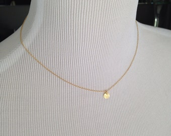 Gold Circle Necklace, personalized, personalized jewelry, disc necklace, choker necklace