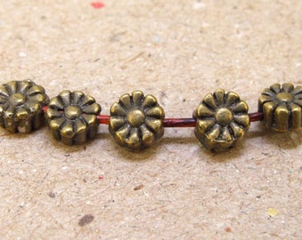 20 pcs of charm  6mm Flower filigree balls antique bronze plated  beads metal findings Beads ----6mm ----- 20Pieces 2AB
