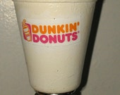 Custom hand made Dunkin Donuts coffee wine bottle stopper, ready to ship