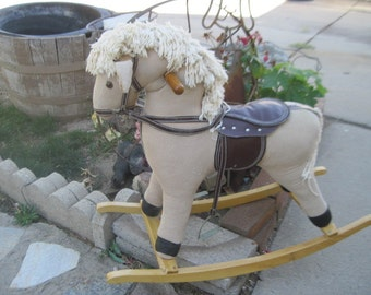 Vintage Cloth Rocking Horse/ Not Included in  Coupon Sale S :)