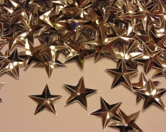 40 count bag of silver color star sequins, 15 mm (1)