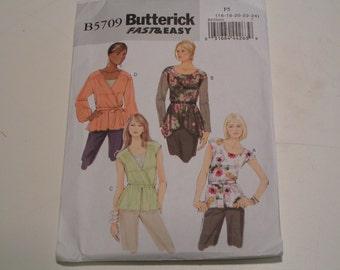 Butterick Pattern B5709 Miss Top and Belt