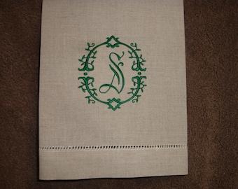 Linen guest towel Monogrammed