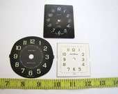 Steampunk Supplies No. CPF48 Lot of 3 Med Paper Clock Faces