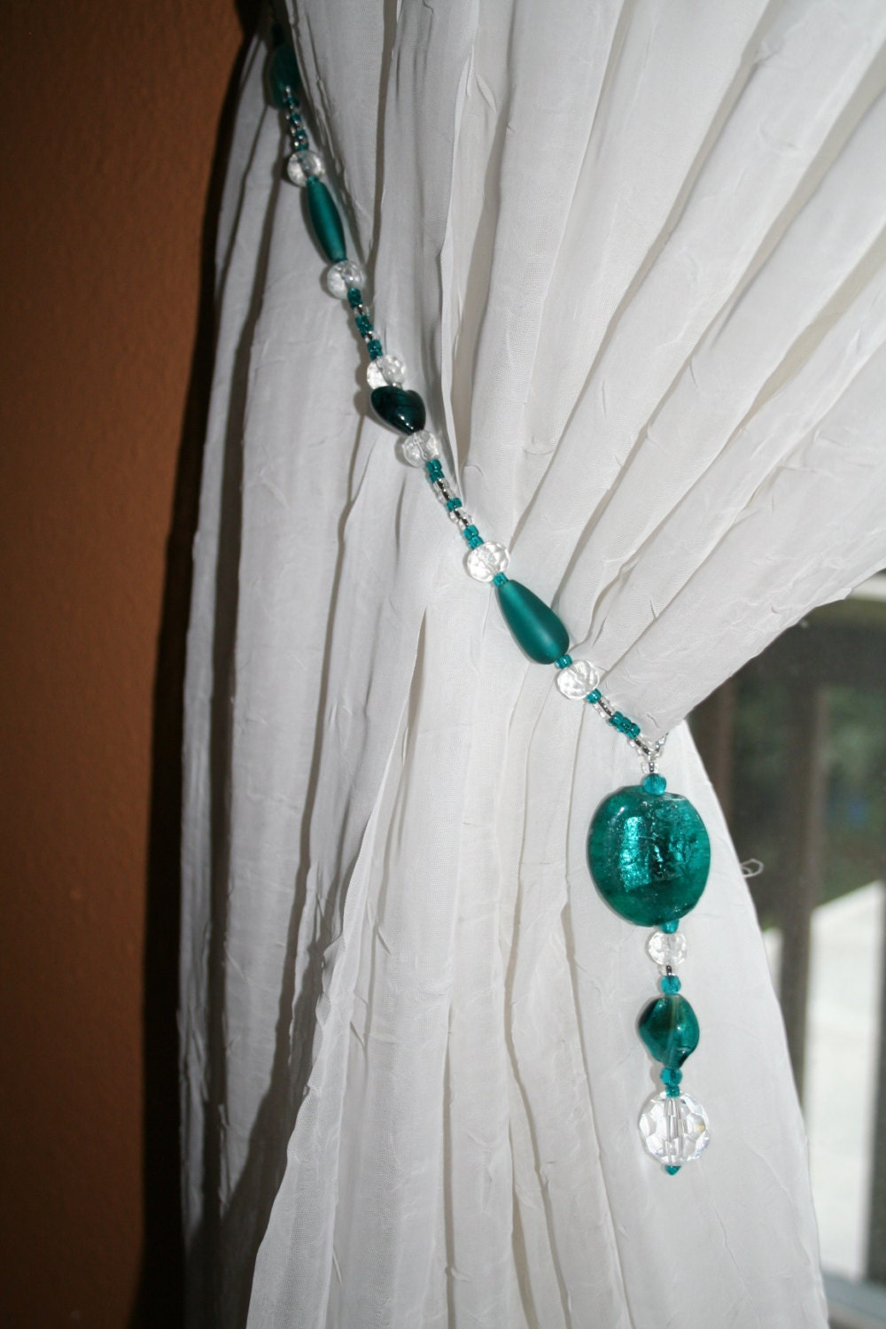 curtain tie backs glass beaded tiebacks free shipping on