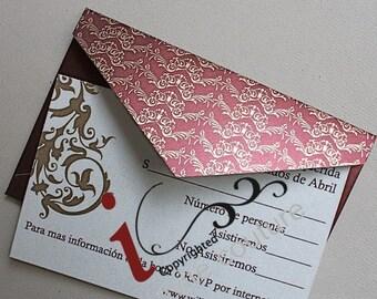 Custom  Luxury Wedding invitations - Die Cut Wedding Invitations -  Custom Luxury Invitations - Lasercut Invitations